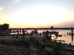 Balancing Stones at Remic Rapids, Ottawa
