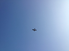 Water Plane flying over, Gatineau River