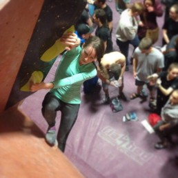 First Bouldering Comp (Photo cred: Chloe Kerzner)