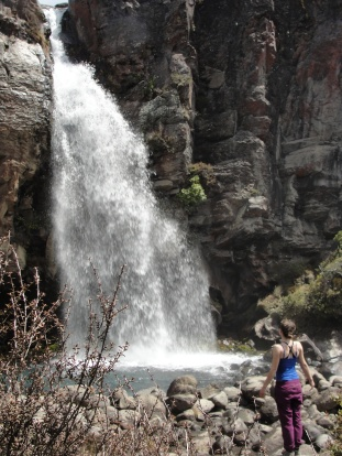 A most refreshing waterfall near the end of the Northern Circuit