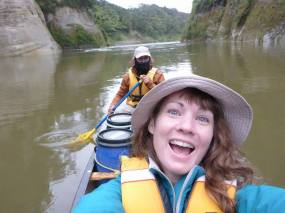 Last day on the water with that weido on the Wanganui River. Some strangers gave us hot chocolate because it was so rainy and cold. I love people!